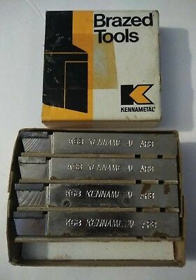4Pc Lot Of Kennametal Carbide Faced Tool Bits  #ar-8 K-68