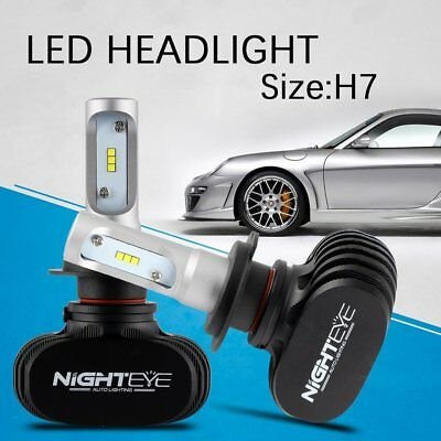 Nighteye 2X 50W 8000LM H7 LED Headlight Car Conversion Bulb White Beam 6500K KIT