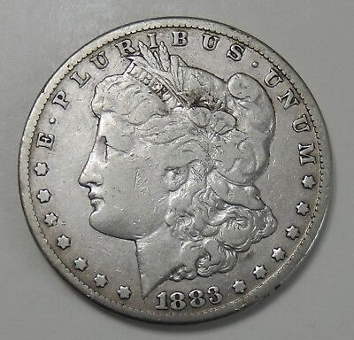 1883-CC Morgan Silver Dollar $1 Coin ~ Fine Details ~ Carson City Mint