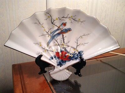 Vintage Japanese Fine China By Jay ~ Asian Japan Oriental Fan Plate Dish..Pretty