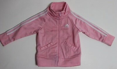 Baby Girl's ADIDAS Full Zip Track Jacket Pink Long Sleeve 12M GREAT & CLEAN