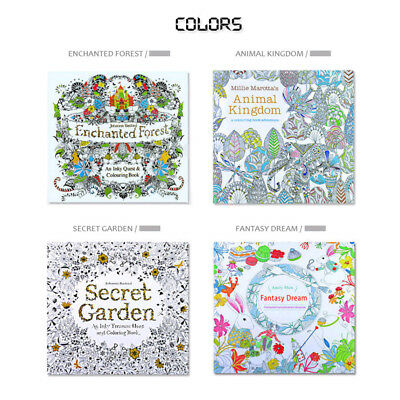 Adult Coloring Of 1 Books Relieve Stress Secret Garden Book Random