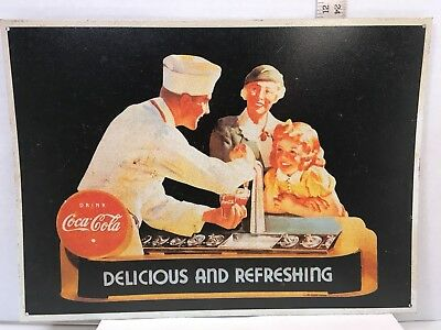 COCA-COLA TIN SIGN Vintage Design New Sign Delicious and Refreshing