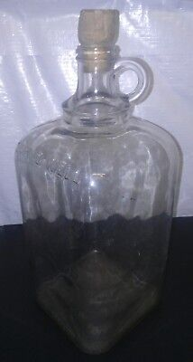 Vintage Early 1900'S? Hires Root Beer 1 Gallon Squared Clear Glass Jug *RARE