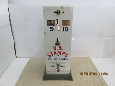 Vintage U.S. Stamps Vending Machine 5 and 10 Cent Stamp Dispenser 1949 Patent