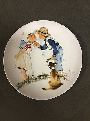 Norman Rockwell Spring Beguiling Buttercup Plate  The Four Seasons Series
