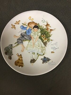 Gorham - Norman Rockwell Plate, Four Seasons Series, Spring-Sweet Song So Young
