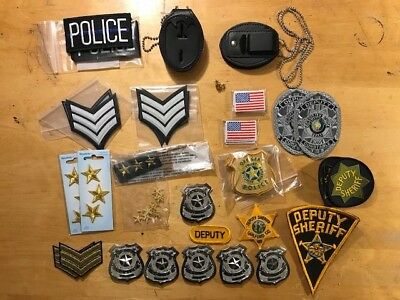 Police Badge Police patch Police badges holders Assortment Collection