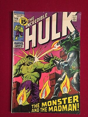 The Incredible Hulk #144 October 1971 Marvel Comics Group