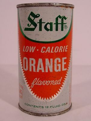 STAFF LOW-CALORIE ORANGE 12 oz Flat Top Pop Can ~ GREAT NECK, NEW YORK