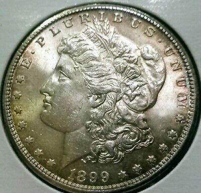 1899 New Orleans Mint Morgan Silver Dollar BU***Lustrous Toned Gem***Free Ship!!