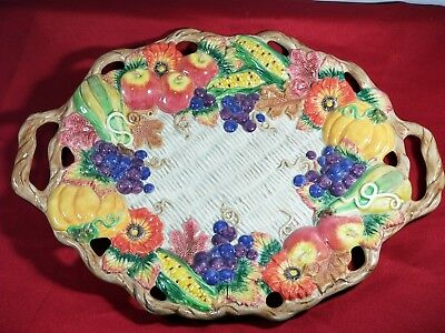 """FITZ and FLOYD Autumn Bounty Fall 17"""" XLarge Oval  Serving Platter"""