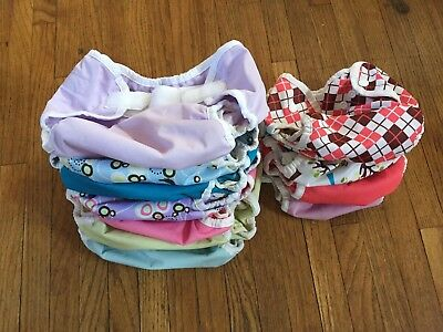 Thirsties Size 1, Size Medium Diaper Covers lot of 12 cloth diapering Bummis
