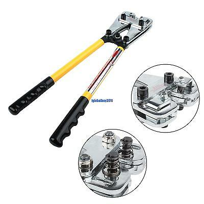 Wire Terminal Cable Crimping Electrical Lug Crimper Plier Hand Swaging Tool US