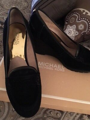 MICHAEL Michael Kors Rory Loafer (Black) Women's Wedge Shoes Size 9M