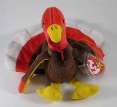 Ty Beanie Baby Babies With Tag Gobbles Turkey Thanksgiving November 27 1996 Bird