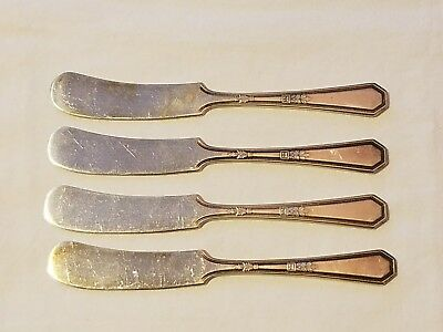 Lot of 4 Antique WM Rogers & Son AA Cheese Knives