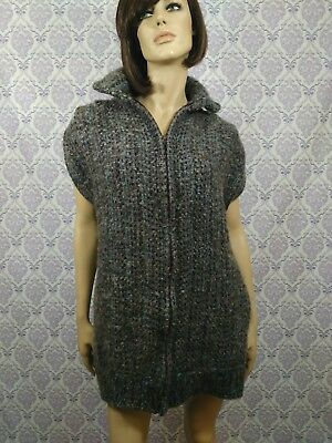 VTG 80s Tapestries Of Ireland Helena Ruuth Sweater Sleeveless Jacket Womens M/L