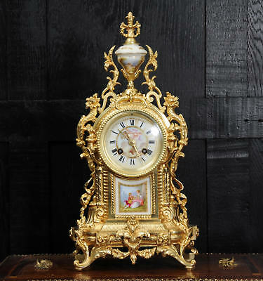 SEVRES PORCELAIN AND ORMOLU CLOCK by ACHILLE BROCOT C1870