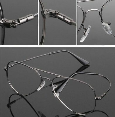 Memory Titanium Flexible Large Size Pilot Optical Eyeglass Frame Rx Clear Lens
