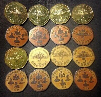 Vintage Haiti Coin Lot - 16 Excellent Uncommon Coins - Lot #J20