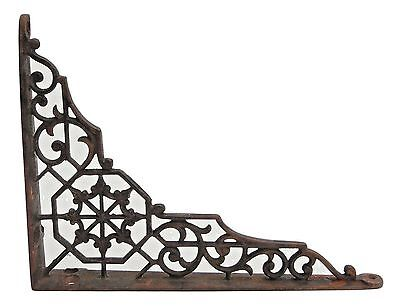 Genuine Antique Labyrinth Web Cast Iron Shelf Wall Bracket Rustic Victorian