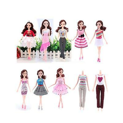 10 x Handmade Dress Daily Wear Clothes Party Outfit For Barbie Dolls Toys