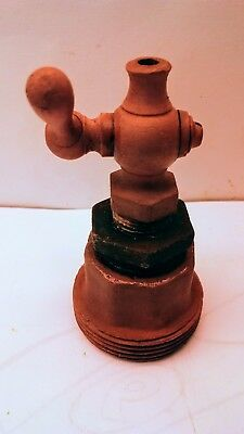 Vintage Turn Off Valve Brass Pet Cock Reducing Fitting Steampunk Industrial Art