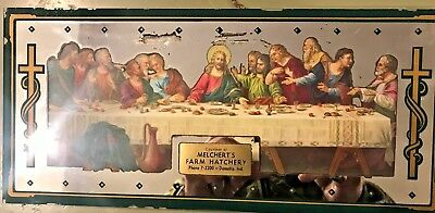 Antique Hatchery Advertising Mirror Last Supper Indiana Turn Of The 2Oth Century