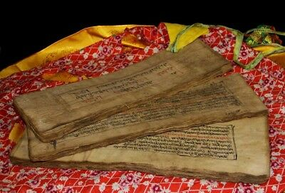 Wonderful Rare 19th Century Old Antique Tibet Buddhism Manuscript Sutra Lection