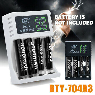 4 Slots LED Batterie Chargeur Pour AA/AAA Ni-MH/Ni-Cd Rechargeable Batteries WS