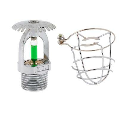2PCS/SET Fire Sprinkler Head Upright Sprinkler with Protective Guard Screen