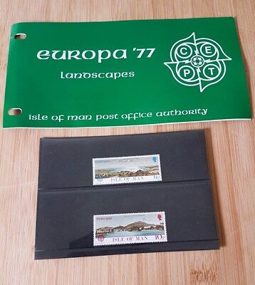 h........ISLE OF MAN Presentation Pack EUROPA'77 LANDSCAPES...a
