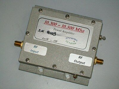X band 10 ghz microwave high gain power amplifier 4 W out 3 mW in FLM1011-4F