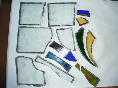 Assorted Stained Glass Pieces.