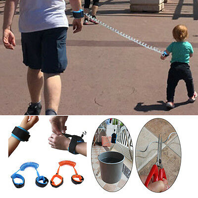 Safety Leash Baby Kids Child Anti-lost Harness Toddler Wrist Link Strap Reins