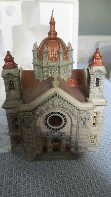 Dept 56 Anniv Event Edt Cathedral Of Saint Paul Historical Landmark Copper Roof