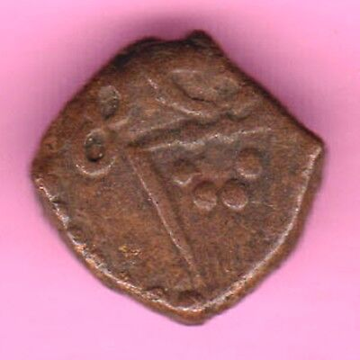 French India-(Dutch Occupation-1693/1698)-Cache-Rarest Copper Coin-46