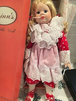 Brinns Colllectible Porcelain Doll Sweetheart Freckles
