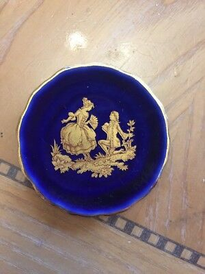 Limoges Meissen Small Blue Cabinet Plate