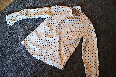 Vintage Mens Penny Farthing Hipster Style Shirt - All Over Print - 1973 - Rare