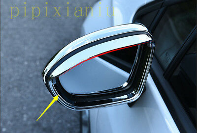 2x ABS Side Rear view mirror Eyebrow Cover Trim For Chevrolet Cruze 2017 2018