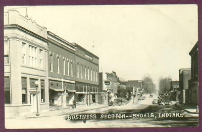 Rppc Shoals Indiana Business Section Savages Friendly Store Coca Cola Sign