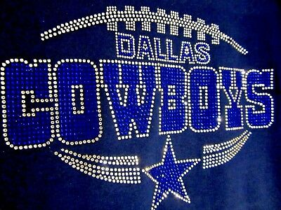 Dallas Cowboys Star Rhinestone Bling vneck ladies Tshirt