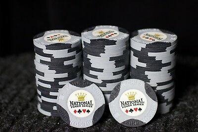 20 Paulson National Poker Series NCV denomination poker chips - excellent cond.