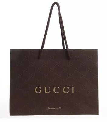 Gucci Genuine Branded Gift Bag in Brown. New and Sealed in Plastic protector.