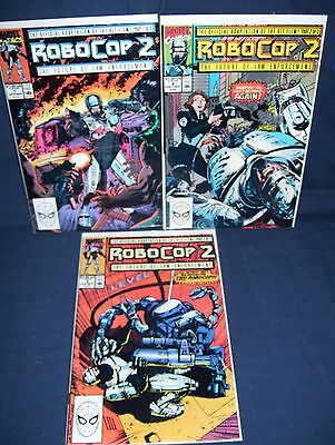 Robocop II #1-#3 Complete Set Movie Adaptation Marvel NM with Bag and Board