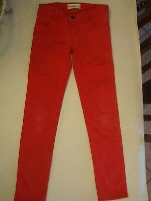 Abercrombie Kids Girls Size 12 Red Skinny Jeans Pants Denim Regular Valentines