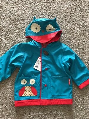 Raincoat Kids Skip Hop Zoo Owl Size 2 Toddler New