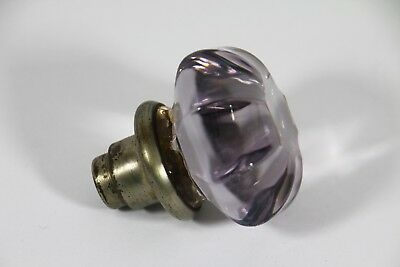 Antique Amethyst / Light Purple Glass Crystal Door Knobs 8 Sides Home Decor